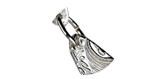 Silverlera prova på armband