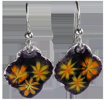 Örhängen-orange-blommor