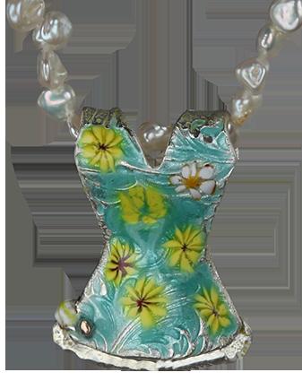 Klänning-emaljerade-blommor