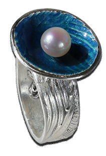 Ring-blå-emalj