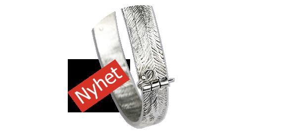 Armband i silver med gångjärn lås